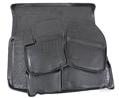 Z330292 SET Kofferraumwanne Gummifußmatten für Ford S-Max Vignale 2 Van Kombi 5