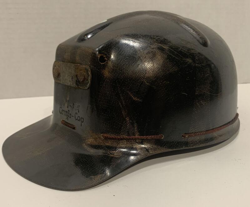 Vintage MSA COMFO CAP Tiger Striped Low Vein Coal Miners Helmet