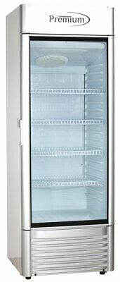12.5 Cuft Single Glass Door Upright Display Cooler. Merchandiser Refrigerator
