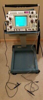 Tektronix 475a Oscilloscope And Dm44 Digital Multimeter W K212 Portable Cart