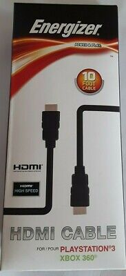 Energizer HDMI 6 foot Video and surround sound Playstation 3 xbox 360 10 ft covid 19 (Xbox 360 Surround Sound coronavirus)