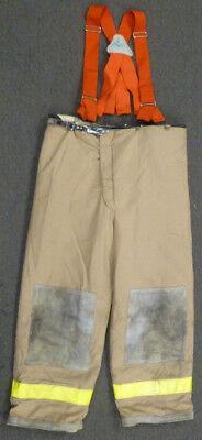 42x30 Janesville Lion Firefighter Pants Turnout Bunker Fire Gear Suspenders P957