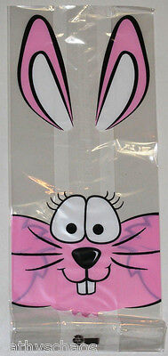 Easter bunny lot 40ebay 1 40 easter bunny large cello clear cellophane bags candy jelly beans gifts 5x11 negle Gallery