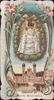 Maria Einsiedeln Wallfahrt Heiligenbild Andenken Österreich Koloriert (B-8090