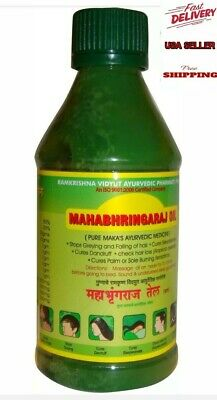 Mahabhringaraj Oil Pure Mak'as Ayurvedic Medicine Reduce Stress Depression300ml. for sale  Shipping to India