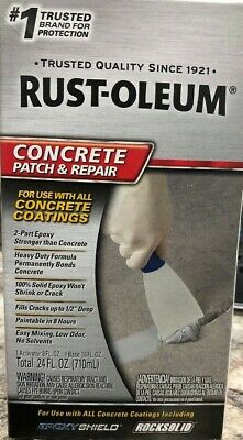 Rustoleum Concrete Patch Repair 2-part Epoxy 24oz Sandable Paintable 301012