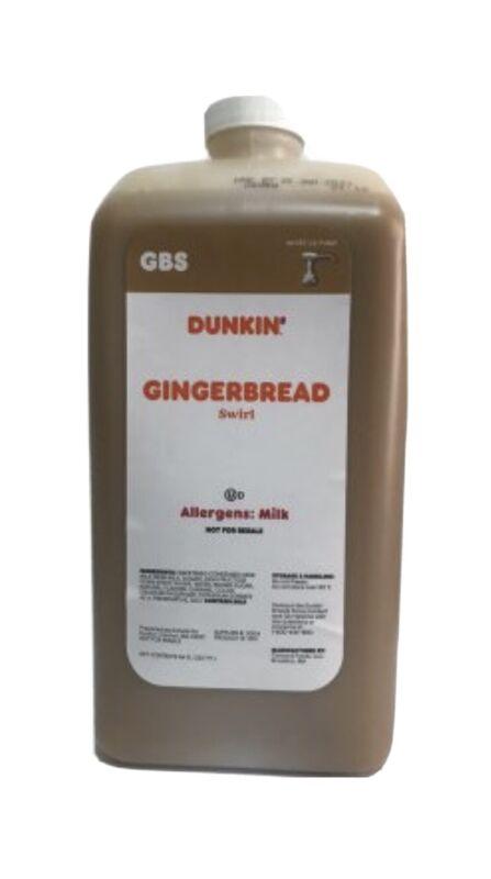 Dunkin Donuts Gingerbread Swirl 64 Oz Jug No Pump