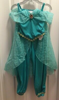 Princess Jasmine Costume 2Pcs M(7/8) Aladdin Disney Parks Authentic Dress-Up NWT](Authentic Princess Jasmine Costume)