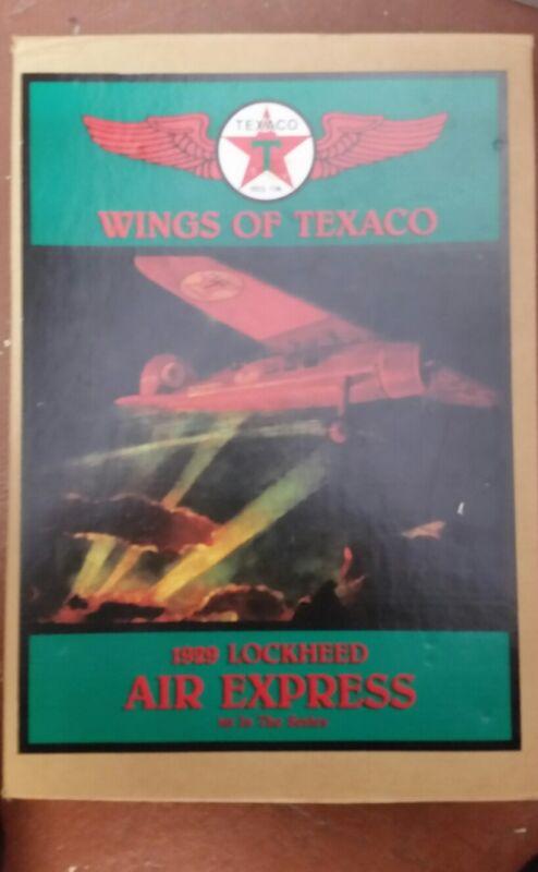 Wings of Texaco 1929 Lockheed Air Express/1st/Die-Cast Airplane Bank