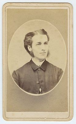 Mutton Chops Sideburns  by Photographer T. Fury New York - CDV with Ad Back - Mutton Chop Sideburns