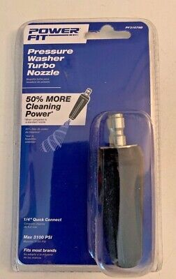 Power Fit Pressure Washer Turbo Nozzle 14 Quick Connect Pf31079b New