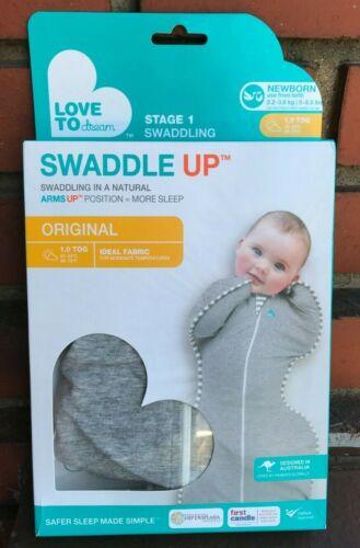 Love To Dream Newborn Stage 1 Swaddling Swaddle Up Original Gray 5-8.5 lb *