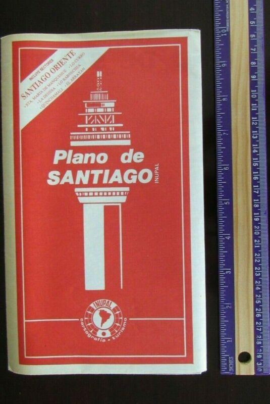 1990 Plano de Santiago with Sector Oriente, SANTIAGO CHILE MAP by INUPAL