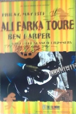 ALI FARKA TOURE FILLMORE POSTER Ben Harper ORIGINAL BILL GRAHAM F136 Rex Ray
