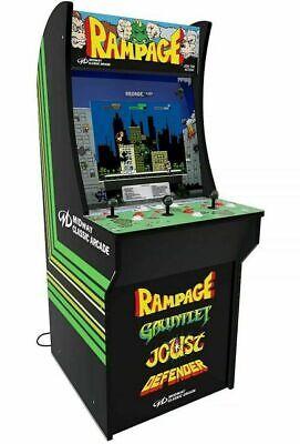 """Arcade1up Rampage Arcade Machine New Defender Joust Gauntlet Cabinet 17"""" LCD"""