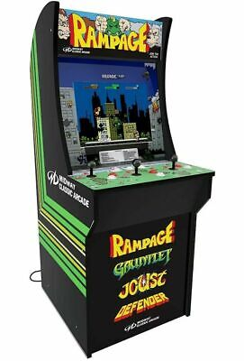 "Arcade1up Rampage Arcade Machine New Defender Joust Gauntlet Cabinet 17"" LCD"