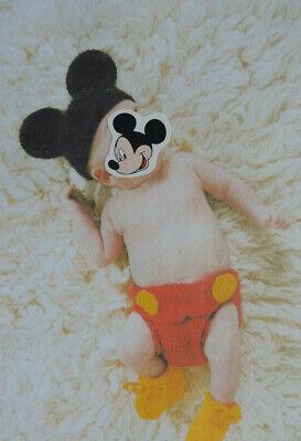 Häkelkostüm Mickey Maus Babykostüm Fotoshooting Mütze Hose Schuhe 0-3 Monate