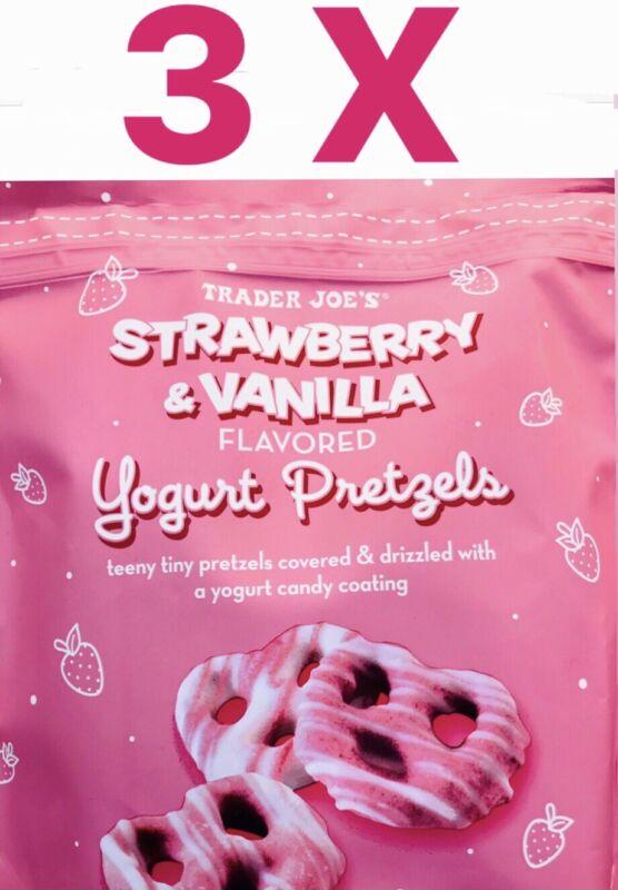 3 Pack Strawberry & Vanilla Yogurt Pretzels 7oz (198g) ALWAYS FRESH supply!