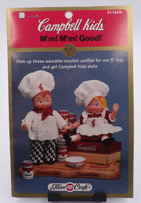 CAMPBELL'S ~ CAMPBELL KIDS ~ FIBRE CRAFT ~ FCM450 ~ CHEF'S OUTFITS ~ CROCHET