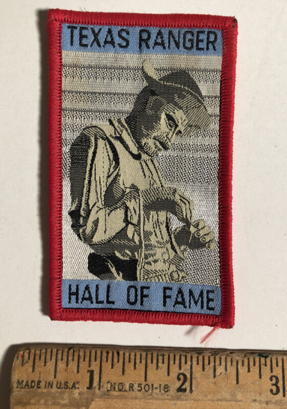 Vintage Texas Ranger Hall Of Fame And Museum Travel Souvenir Patch Waco Texas