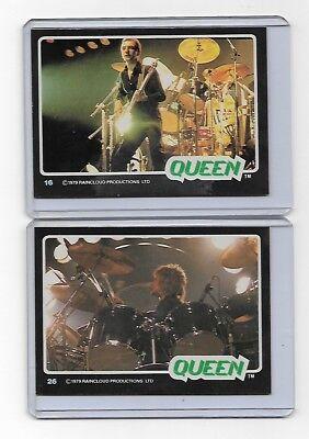 VHTF OOP 1978 - 1979 Lot of 2 Black Border Queen Trading Cards