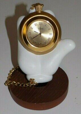 Disney Desk Clock Pocket Watch Mickey Mouse Hand