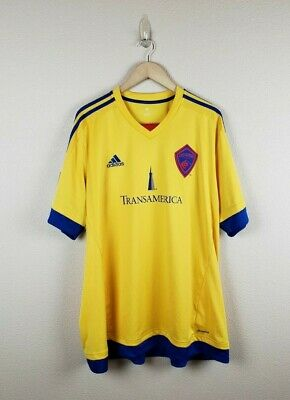 d06989234 Adidas Colorado Rapids MLS Men s Yellow On-Field Replica Jersey Men s Size  2XL