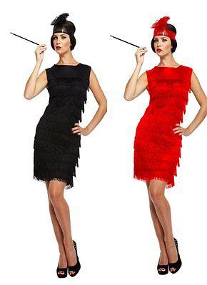 1920's Flapper Dress Great Gatbsy Womens Fancy Dress Costume Size 10 - 12 (Great Fancy Dress Kostüme)