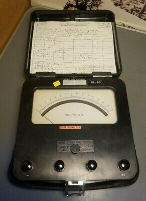 Antique Weston Electric Instrument Model 622 Dc Volt Meter Voltmeter Works Great