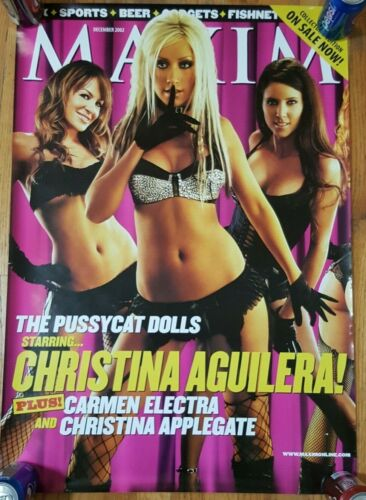 "CHRISTINA AGUILERA PUSSYCAT DOLLS MAXIM COVER 2002 POSTER 24"" x 34"""