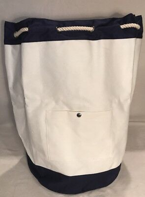 West Elm Market Navy   White Laundry Bag Nwt Great Graduation Gift