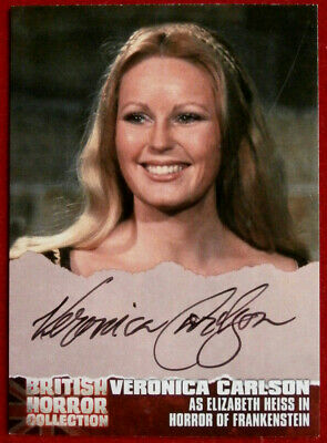 BRITISH HORROR - AUTOGRAPH CARD - VC1 - VERONICA CARLSON Horror Of Frankenstein