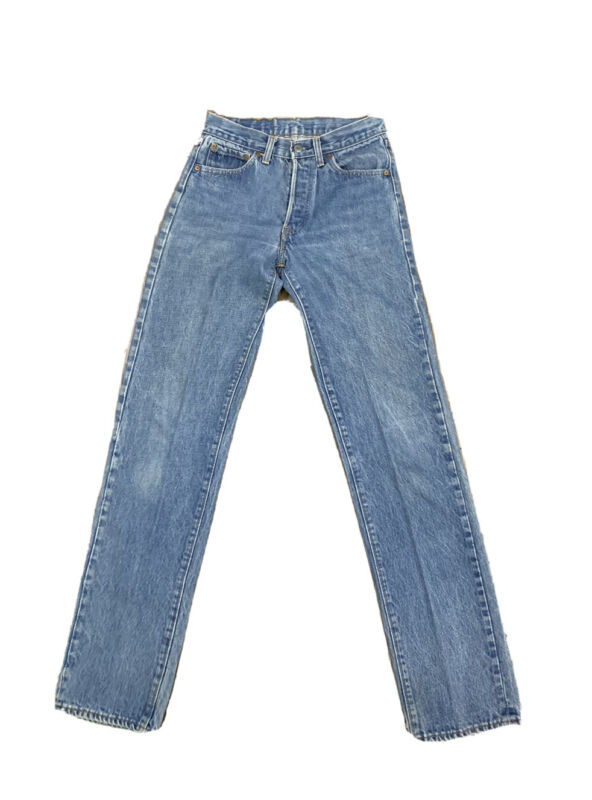VTG Levis 501 Button Fly Jeans Size 26 X 34 Made USA