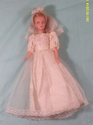 "AMERICAN CHARACTER EUC GRO-HAIR TRESSY BRIDE 12"" BARBIE DOLL VINTAGE c. 1963"
