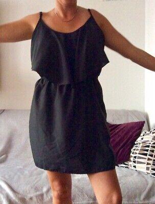 Primark Size 18 Black Chiffon Floaty Strappy Mini Dress