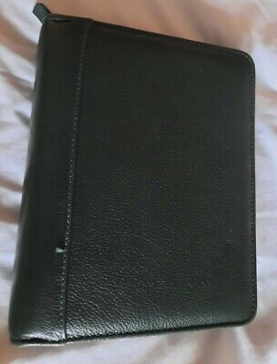 Franklin Quest Compact Full Grain Aniline Leather Binder Planner Organizer 6 Rng