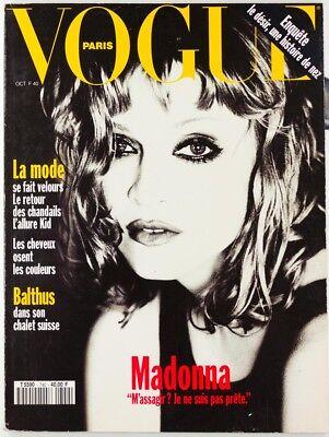 MADONNA by ELLEN VON UNWERTH French PARIS VOGUE MAGAZINE October 1993 Girly Show