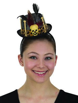 Womens Mini Witch Doctor Top Hat Headband Voodoo Cap Halloween Costume Accessory