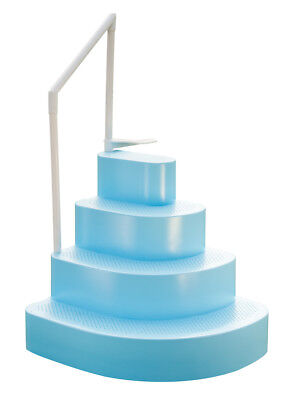 Blue Wave Blue Wedding Cake Steps for Above Ground Swimming Pools with Liner - Wedding Cake Pool Step