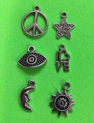 CHARMS peace star sun moon DIY fun gift idea stocking stuffer Christmas gift #A9 - Sun Costume Ideas