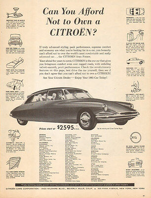 1960 Classic European Car AD French CITROEN It's 1965 TODAY !  122915
