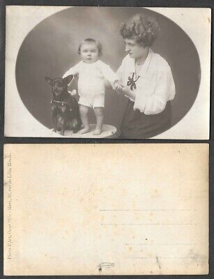 Old Real Photo Postcard - Baby and Chihuahua Dog  for sale  Shipping to Canada