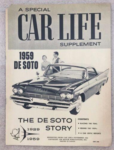 Vintage DESOTO 1959 Car Life Supplement auto brochure