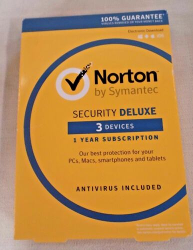 NORTON SECURITY DELUXE 3 DEVICES 1 YEAR SUBSCRIPTION