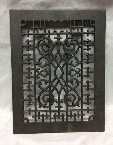 One Antique Rectangular Heat Grate Grill Decorative 9X12 711-18C