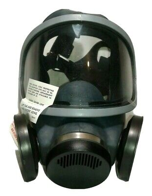 Msa Mask Full Face Twin Respirator Adjustable Size Small M4c3 New