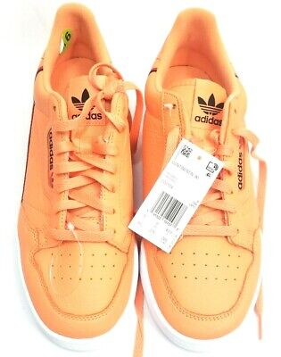 ADIDAS ORIGINALS CONTINENTAL 80 EASY ORANGE SNEAKERS RARE FOOTWEAR SHOES covid 19 (Orange Leather Footwear coronavirus)