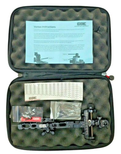 CBE Vertex Target Archery Sight With Case and Paperwork