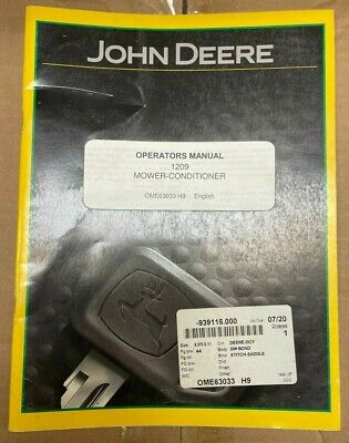 John Deere 1209 Mower-conditioner Operator Manual Ome63033 G-5