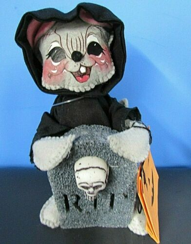 Annalee Halloween 6 in Happy Reaper Mouse Doll With Trick or Treat Bag New Tag